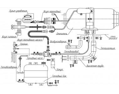Воздушный отопитель Планар 4ДМ2-24-S (3Квт)